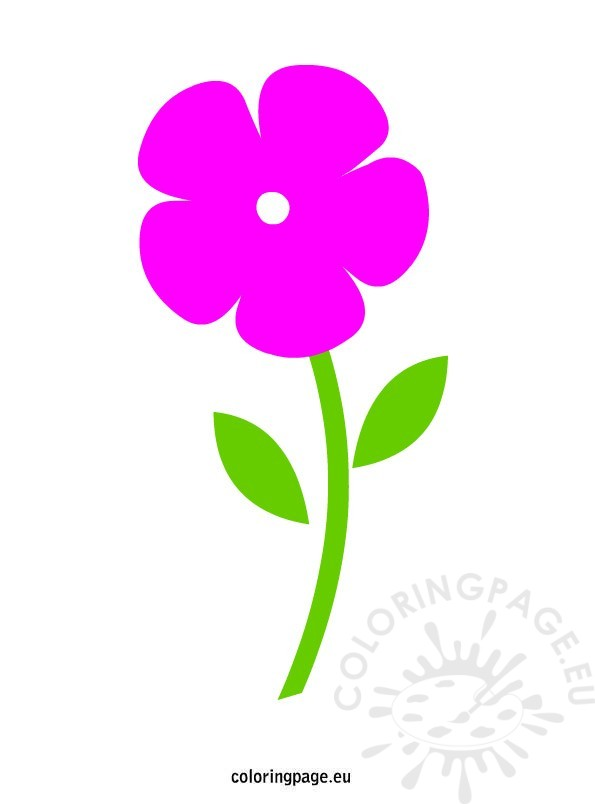 Clipart Simple Pink Flower