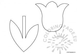 Tulip Template For Kids
