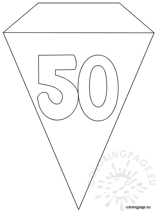 50th Party Flag Banner Template