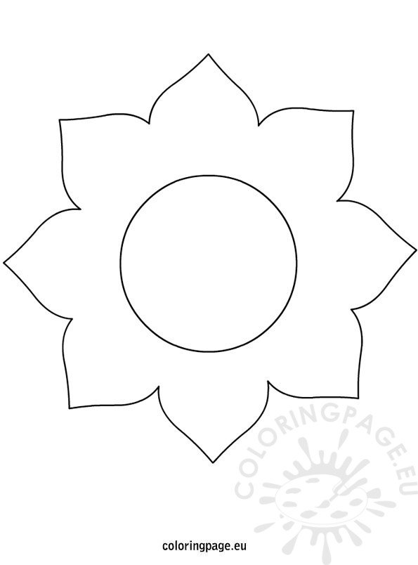 big-flower-template