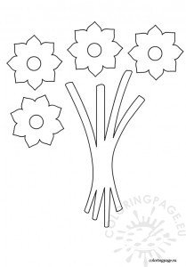 Bouquet flowers template