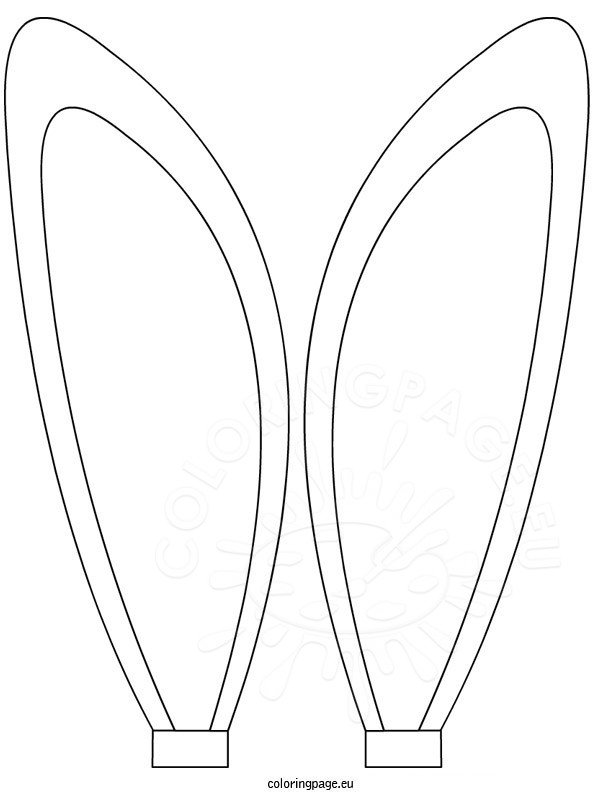 bunny ears coloring sheet � coloring page
