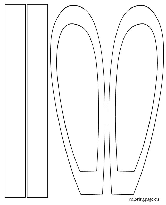 Bunny headband template coloring page for Bunny ears headband template
