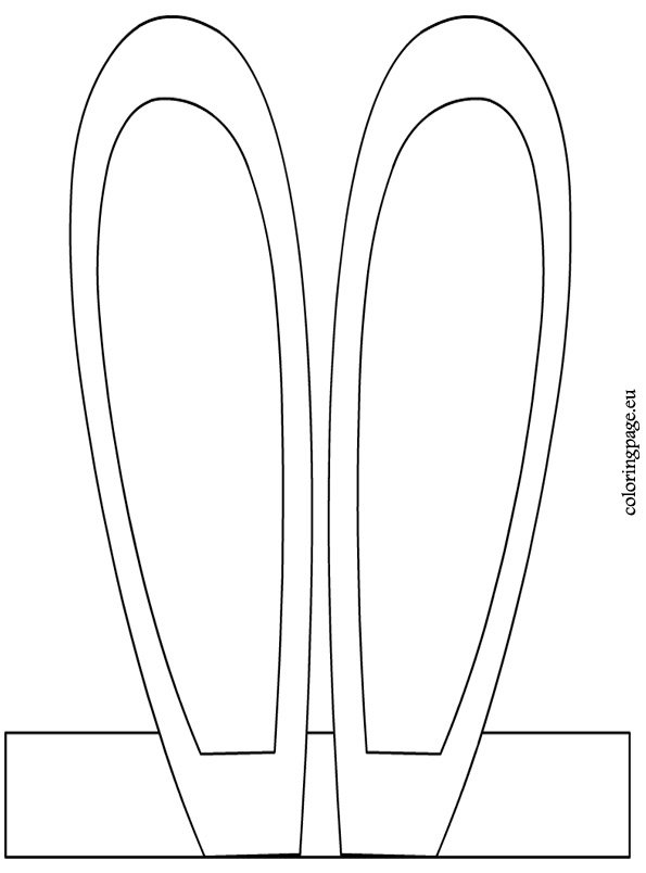 Bunny headband coloring page for Bunny ears headband template
