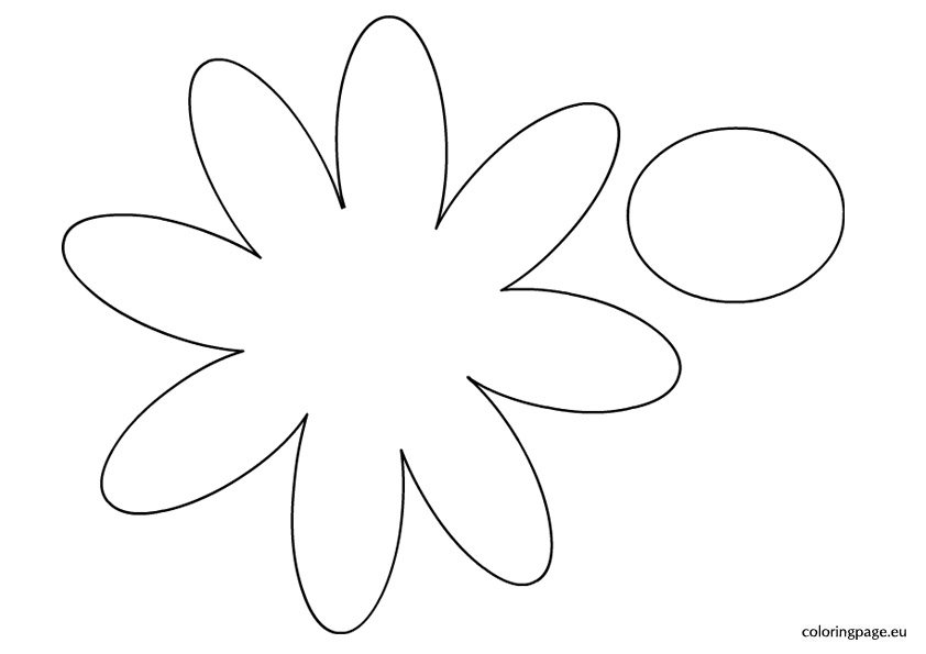 Daisy template coloring page for Daisy cut out template