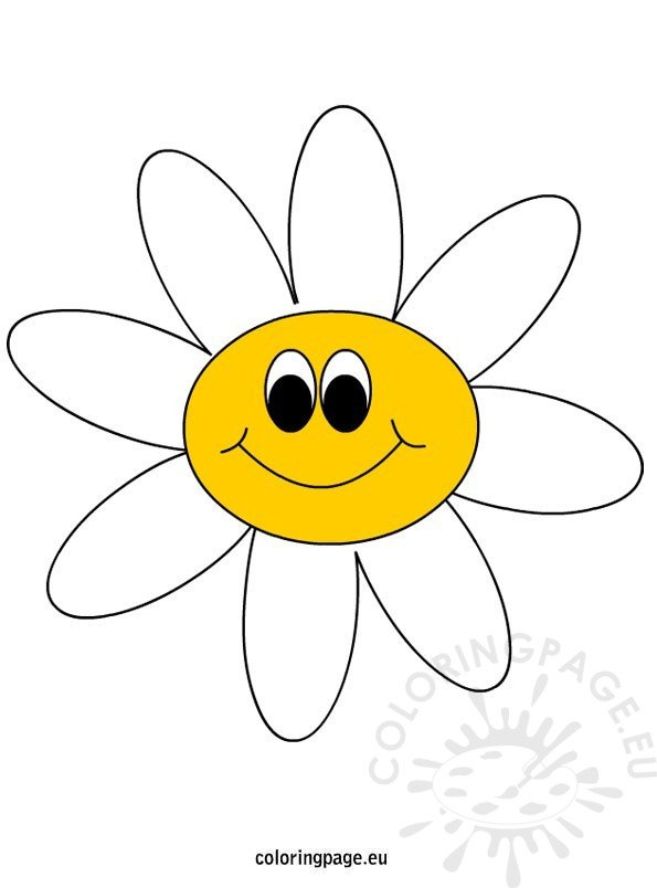 Cartoon Daisy Happy ClipArt