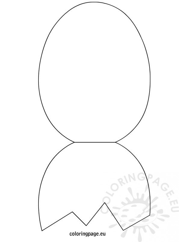 easter egg foldable card template coloring page
