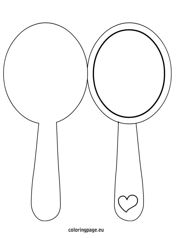 Mirror Template For Kids Coloring