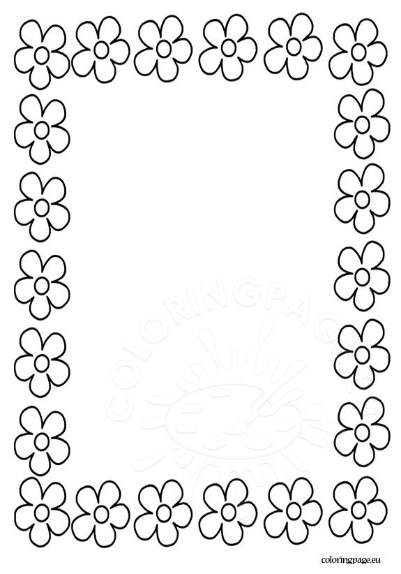 coloring pages flower borders - photo#1