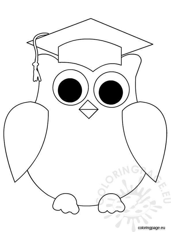 Owl Graduation Coloring Page