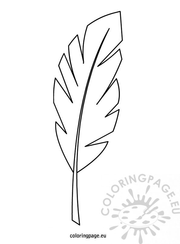 Palm branch template – Coloring Page