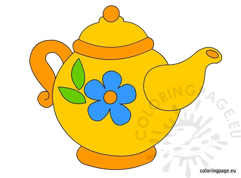 teapot clip art coloring page rh coloringpage eu clipart teapot and cup teapot clipart free