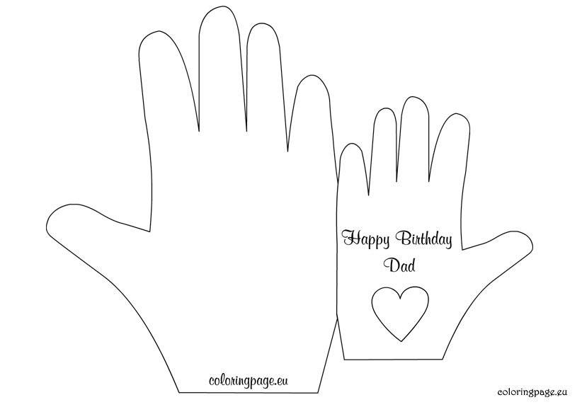 - Birthday Card To Dad – Coloring Page