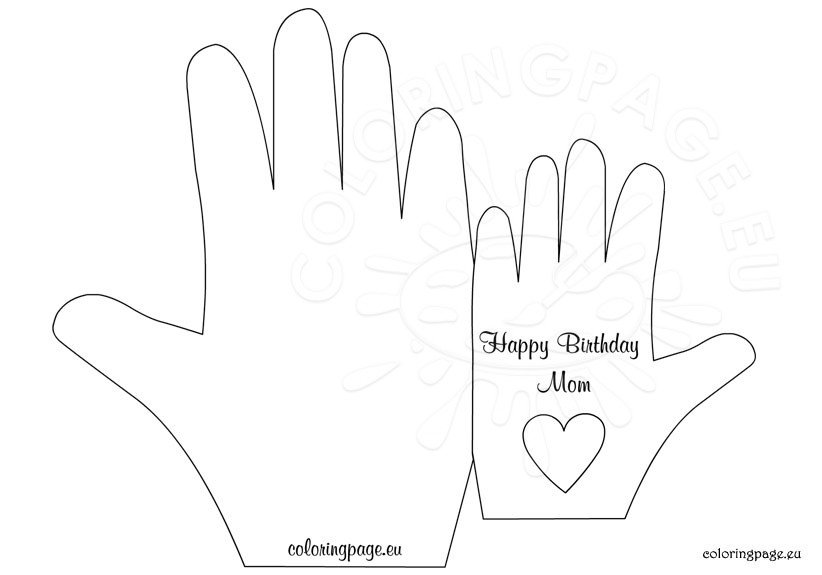 Birthday card to mom - Coloring Page