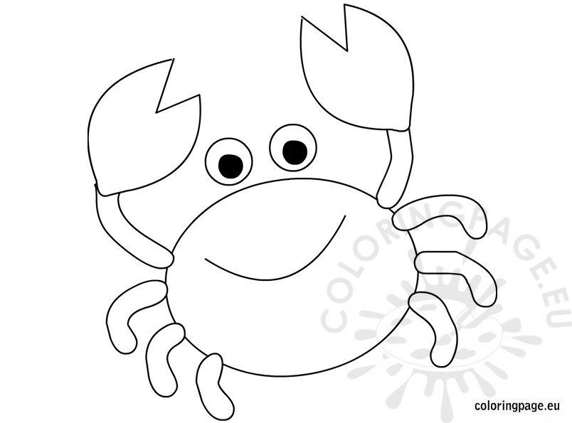 Cute Crab Coloring Page