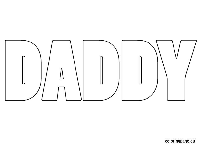 Daddy coloring page Coloring