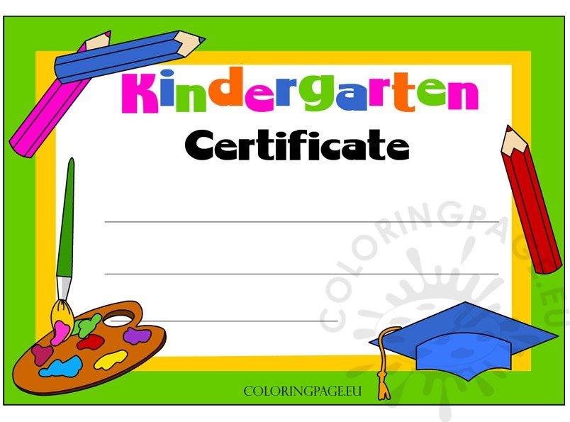 kindergarten-certificate-free
