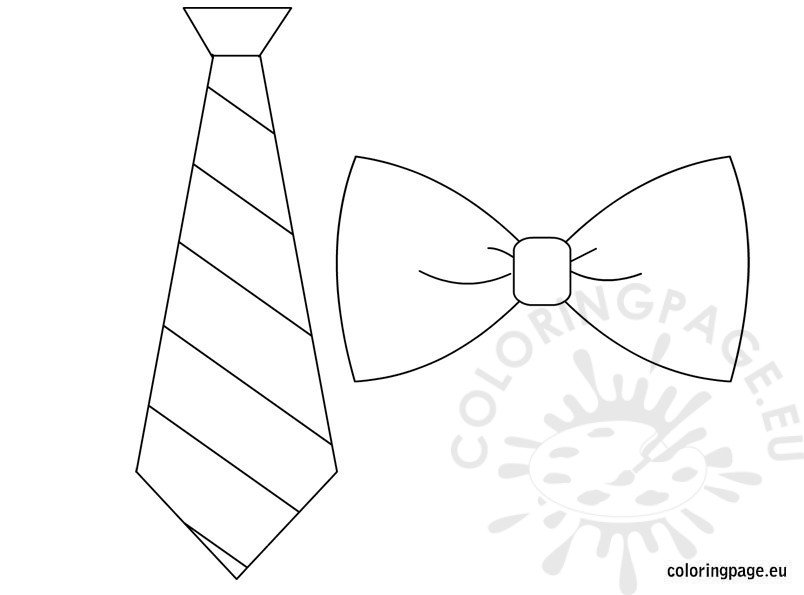 Father 39 s day coloring page for Necktie coloring page
