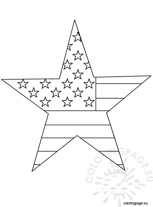 4th of july - Coloring Page