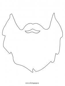 Candid image with regard to beard template printable