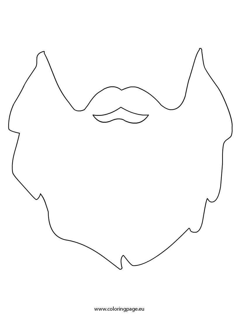 Beard template coloring page beard template maxwellsz