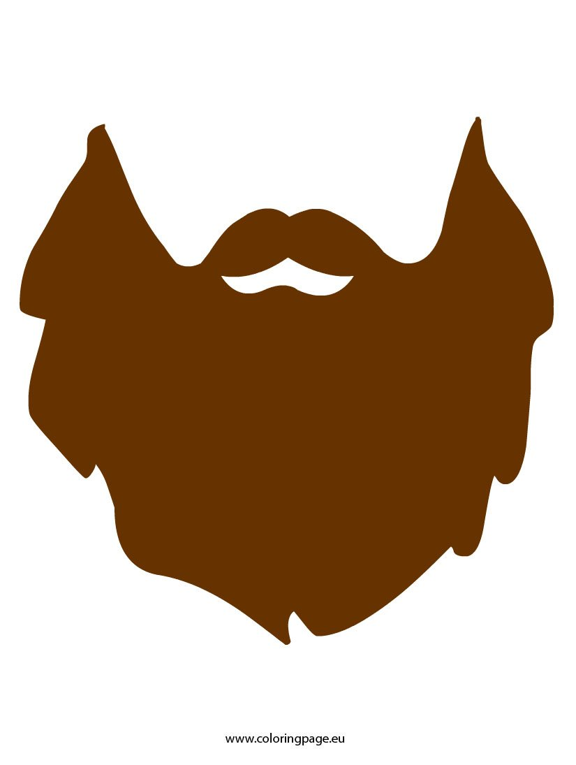 beard coloring pages - printable santa beard search results calendar 2015