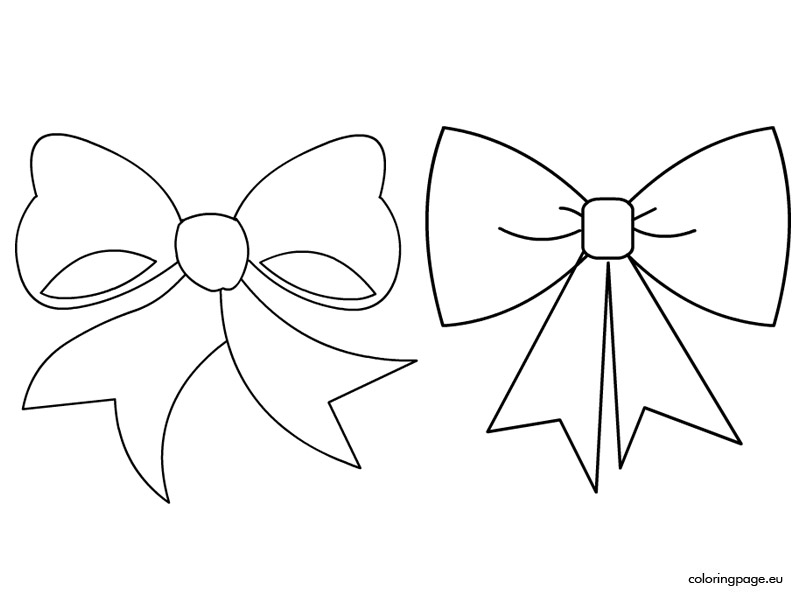Ribbons And Bows Images Coloring Pages Coloring Pages Bow Coloring Page