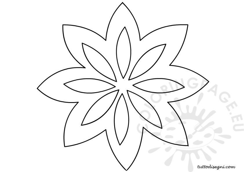 Show me more flower stencil colouring pages