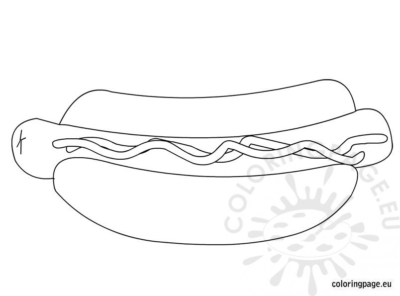 hotdog coloring pages - photo#6