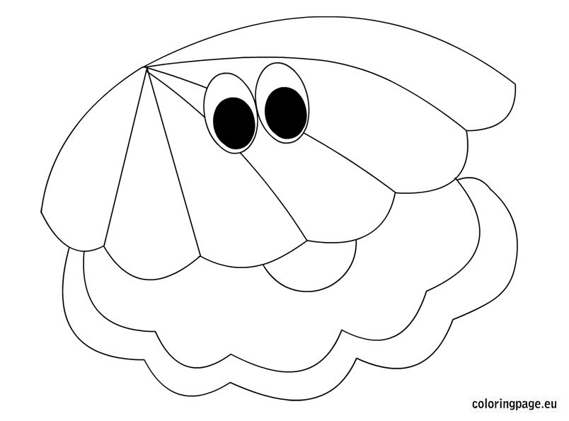 oyster Colouring Pages