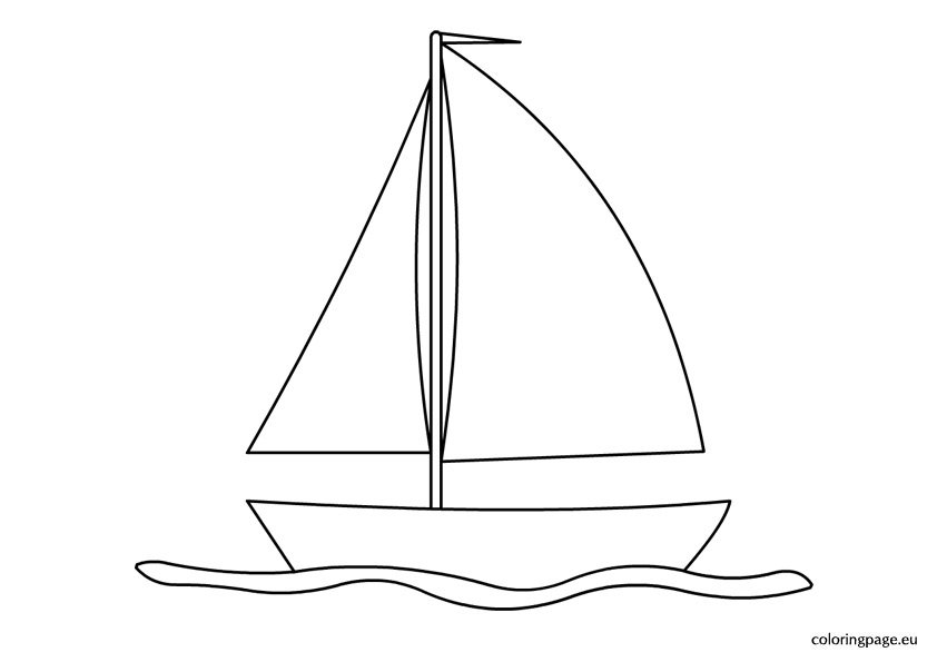 sailing boat coloring page - Boat Coloring Pages