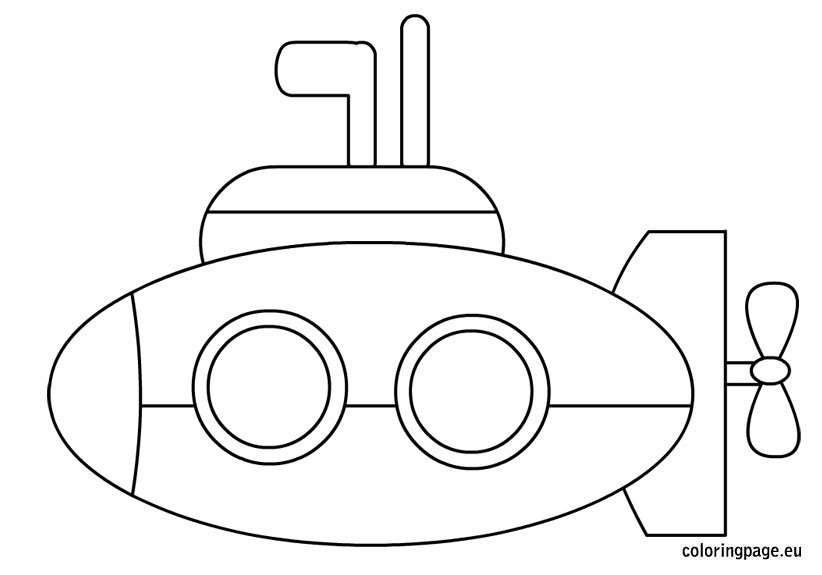 Submarine coloring sheet – Coloring Page