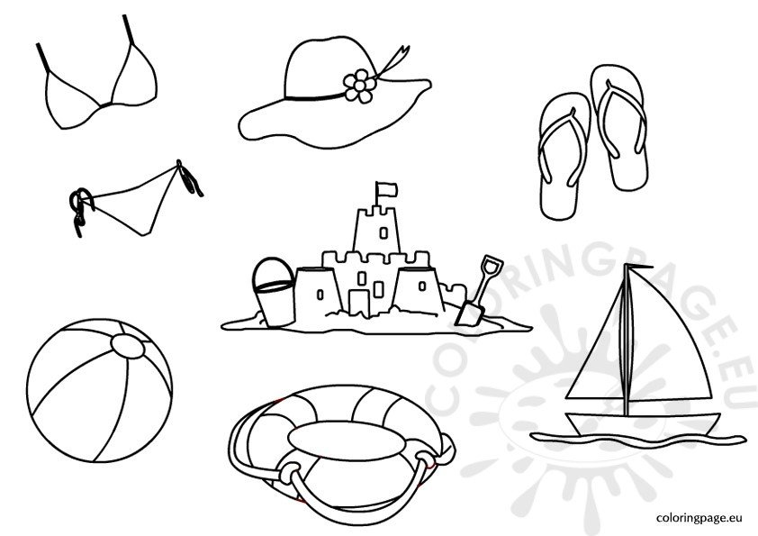 Free Summer Coloring Page For Kids Coloring Page