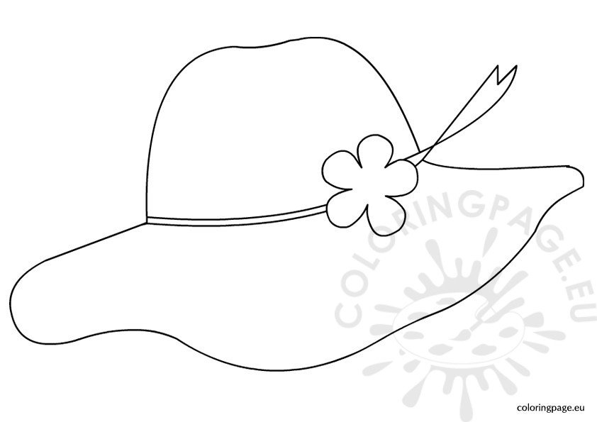 summer hat Colouring Pages