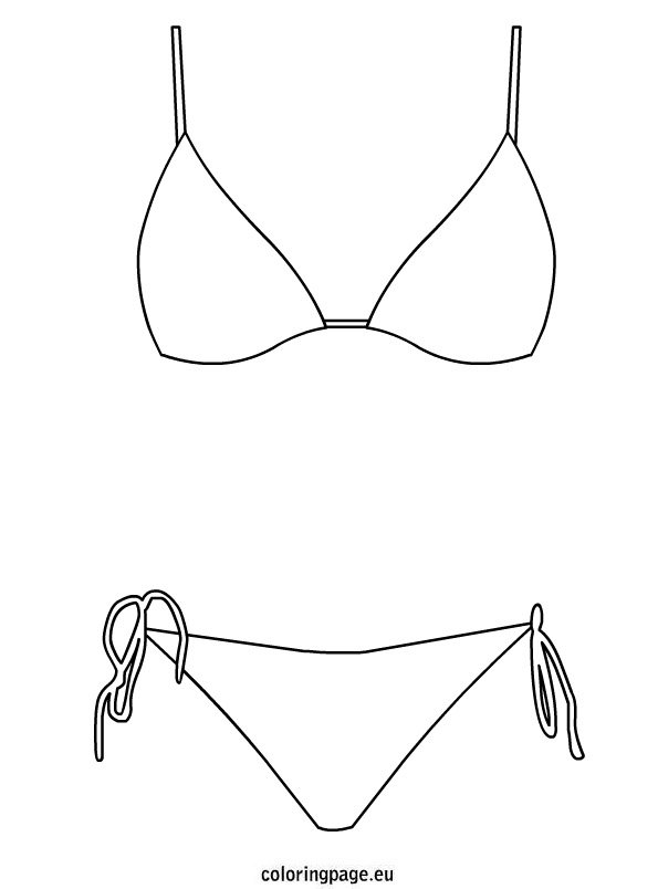 swimming suit coloring pages - photo#12