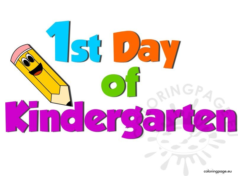 1st day of kindergarten coloring page