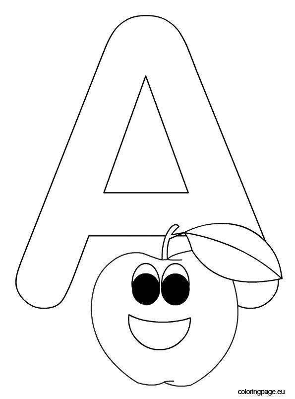 Letter A coloring pictures