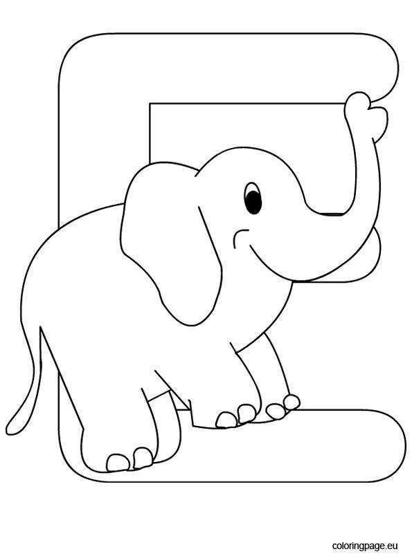 Alphabet Letter E Coloring