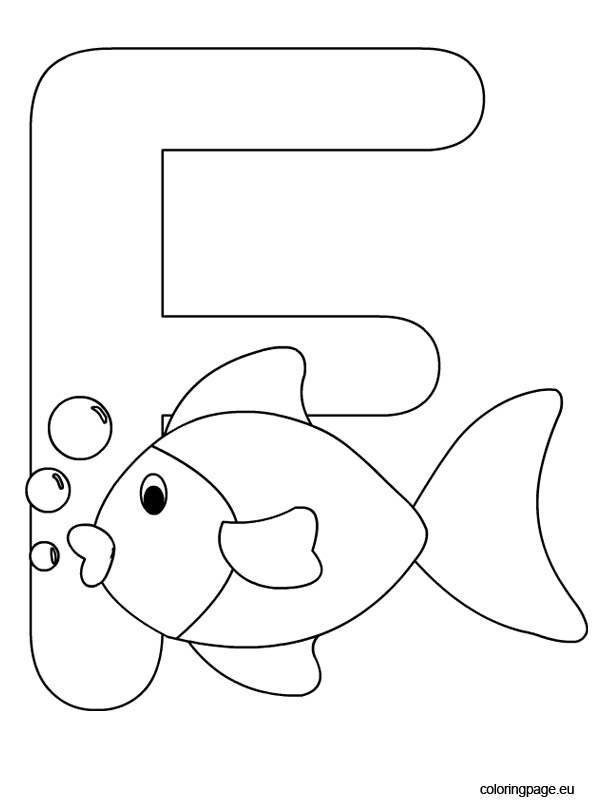 f letter coloring pages - photo #17