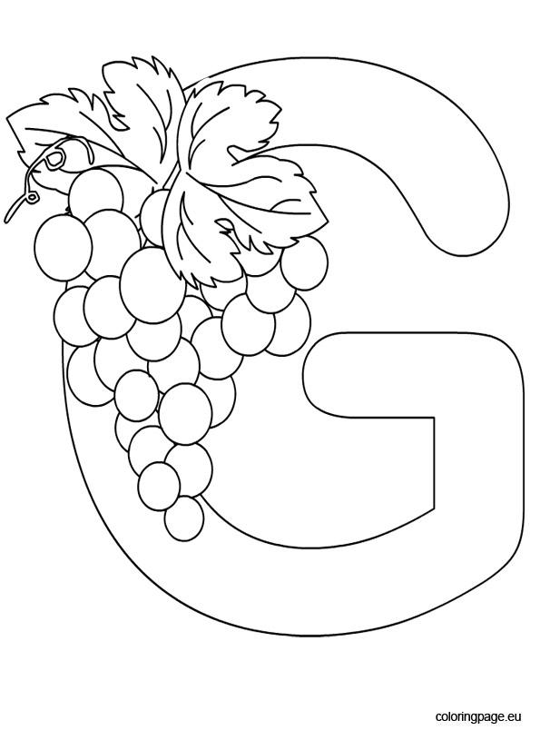 Alphabet - Letter G - Coloring Page