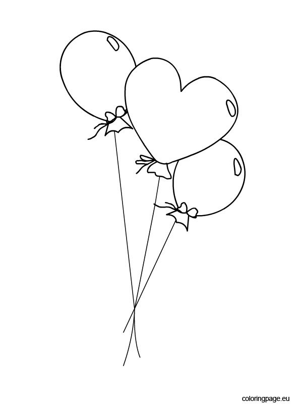Balloons coloring picture Coloring