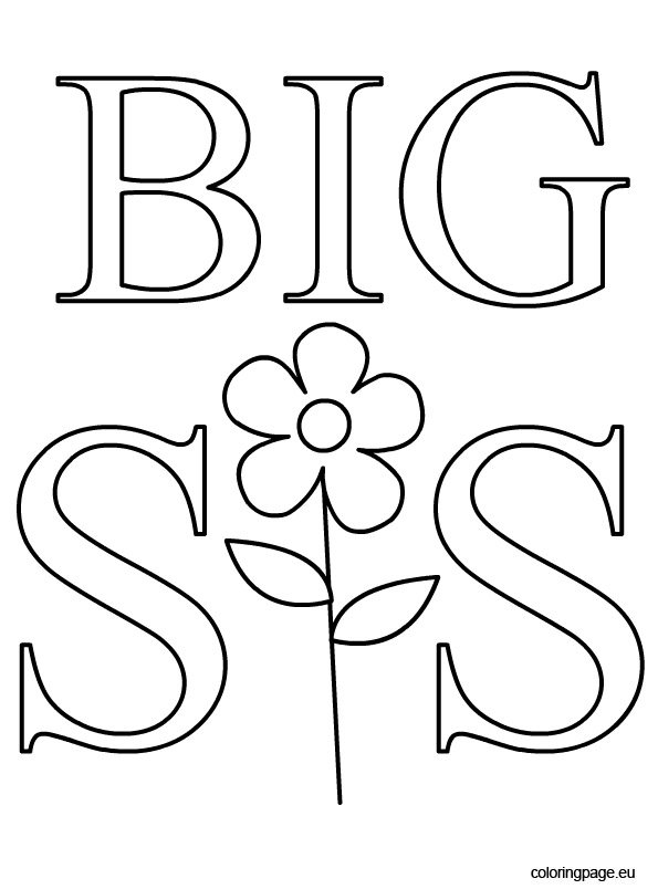 big sister coloring page coloring pages
