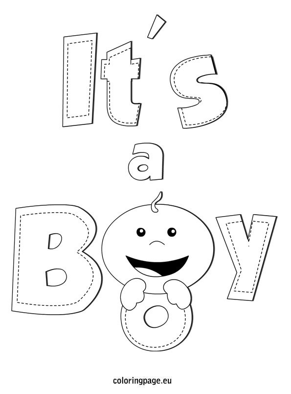 Its A Boy Coloring Pages Galleryhipcom The Hippest