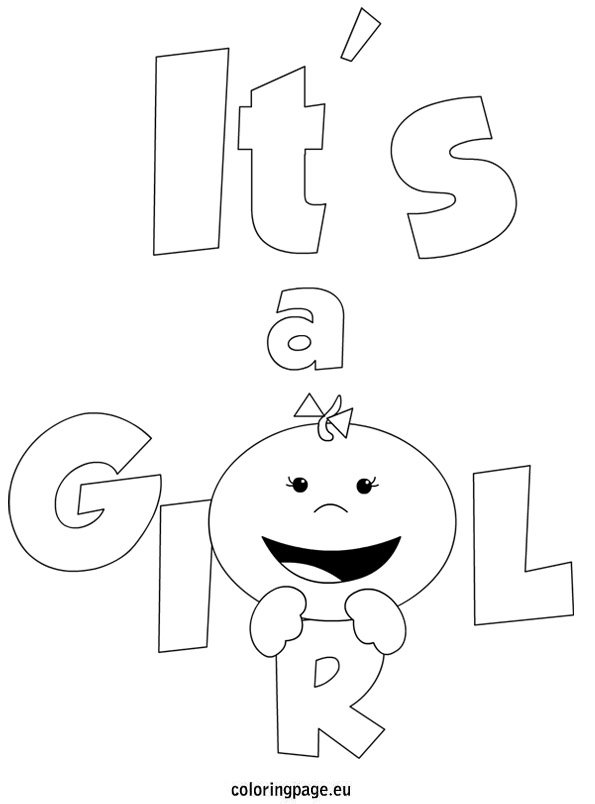 It S A Girl Coloring Page