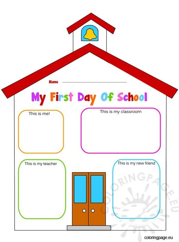 First days of school activities – Coloring Page