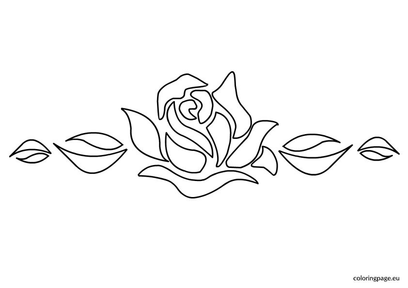 Striking image for rose stencil printable