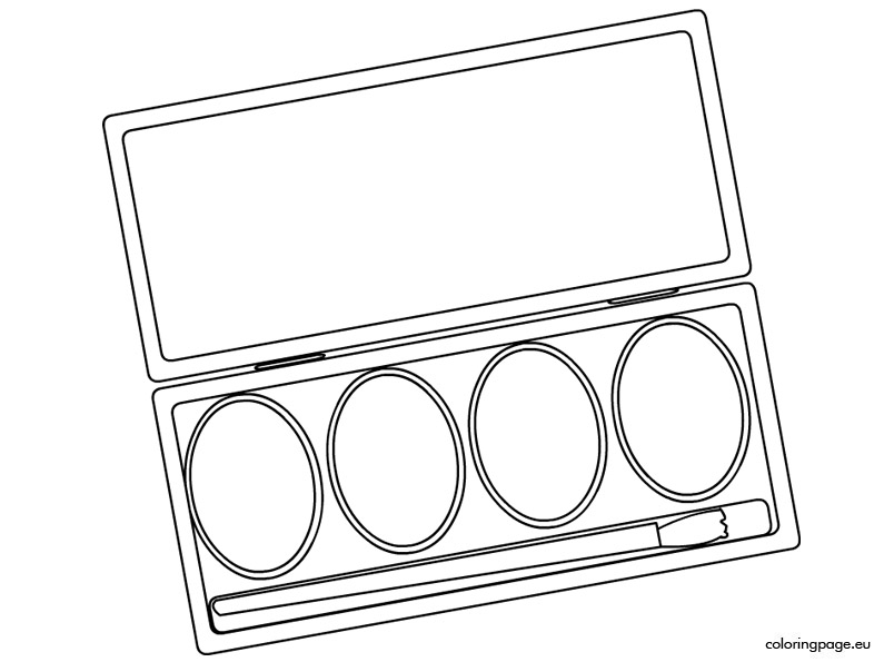 Watercolor Paint Sets Coloring Page