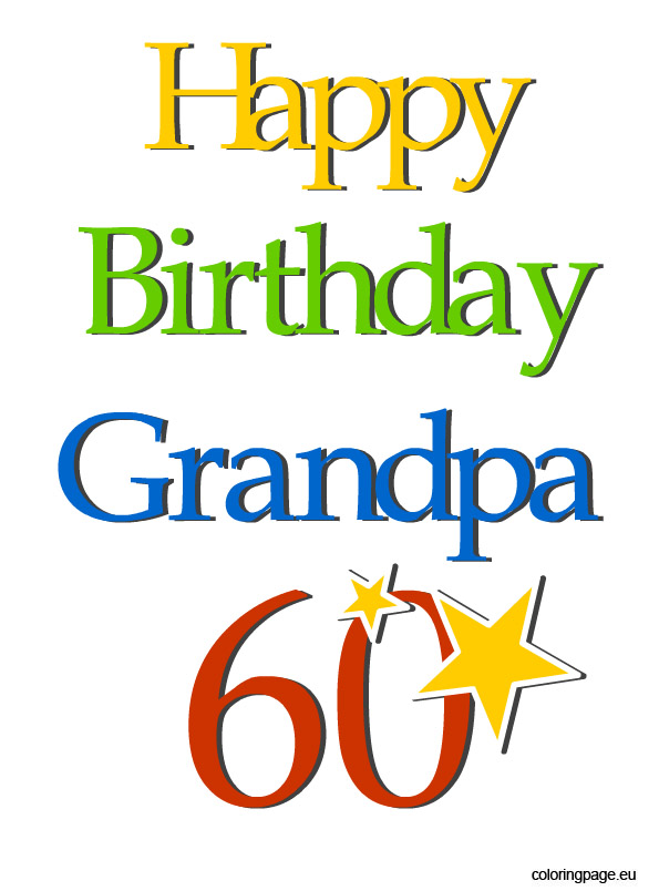 12th Birthday Grandpa | Coloring Page