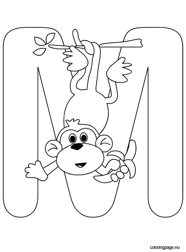 Letter M – Coloring Page