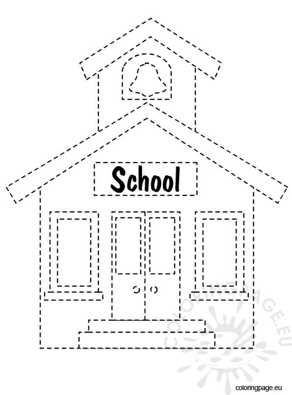 back-to-school-tracing-school-house